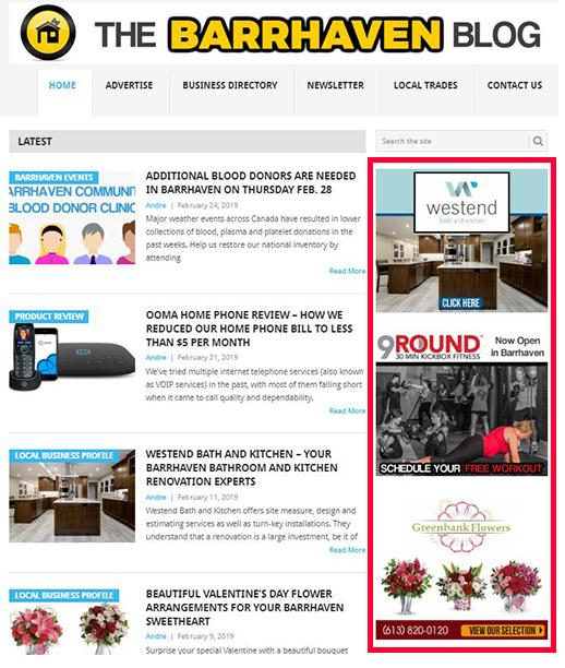 Barrhaven Blog Sidebar Ad
