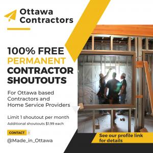Shoutout Promo for Ottawa Contractors