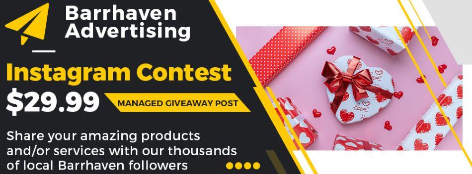 Barrhaven Advertising - managed Instagram giveaways